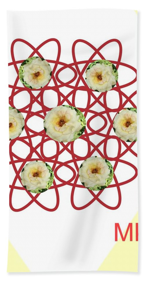 Roses Hand Towel featuring the digital art Roses by Mary Jo Hopton