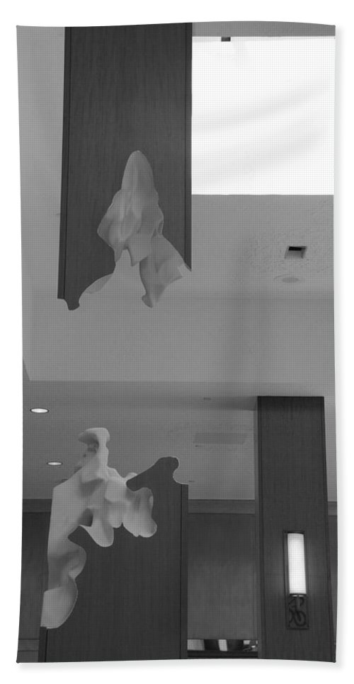 Abstract Hand Towel featuring the photograph Rotton Stanchon by Rob Hans