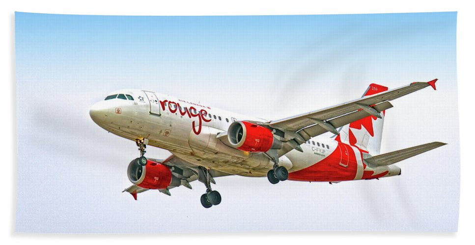 Airlines Hand Towel featuring the digital art Rouge by Gerald Voigt