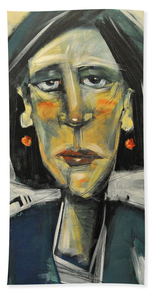 Woman Hand Towel featuring the painting Rough Day Don't Ask by Tim Nyberg