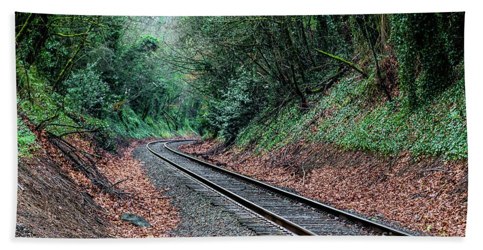 Jon Burch Hand Towel featuring the photograph Round The Bend by Jon Burch Photography