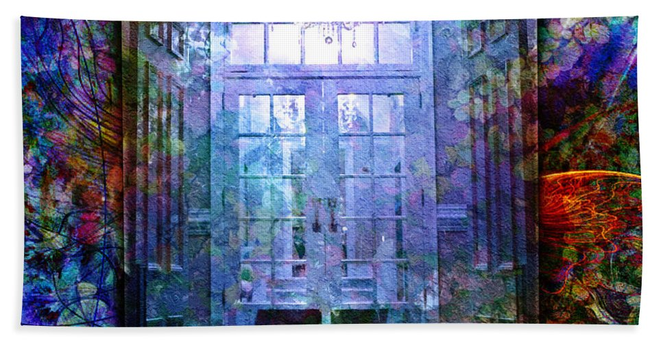 Arch Bath Sheet featuring the digital art Rounded Doors by Barbara Berney