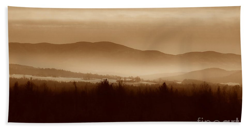 Landscape Hand Towel featuring the photograph Route 120 Vermont View by Deborah Benoit