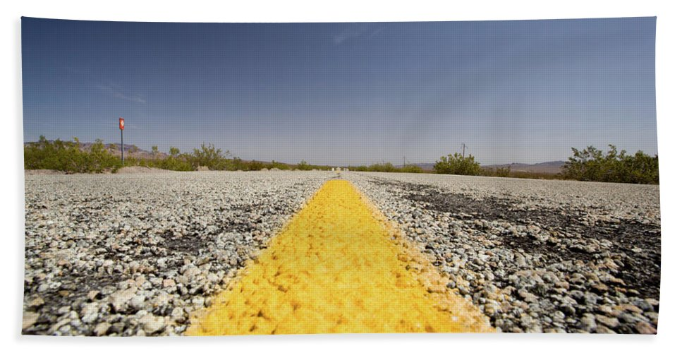 Notice Bath Sheet featuring the photograph Route 66-74 by Avril Christophe