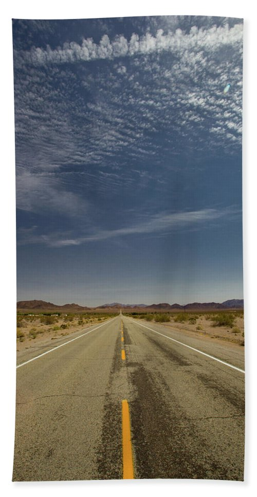 Notice Bath Sheet featuring the photograph Route 66-76 by Avril Christophe