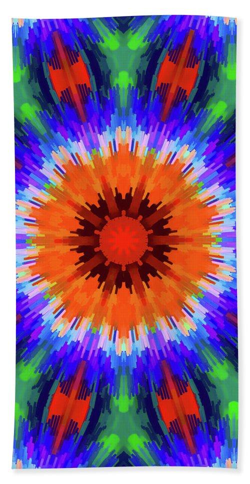 Mandala Art Hand Towel featuring the painting Row by Jeelan Clark