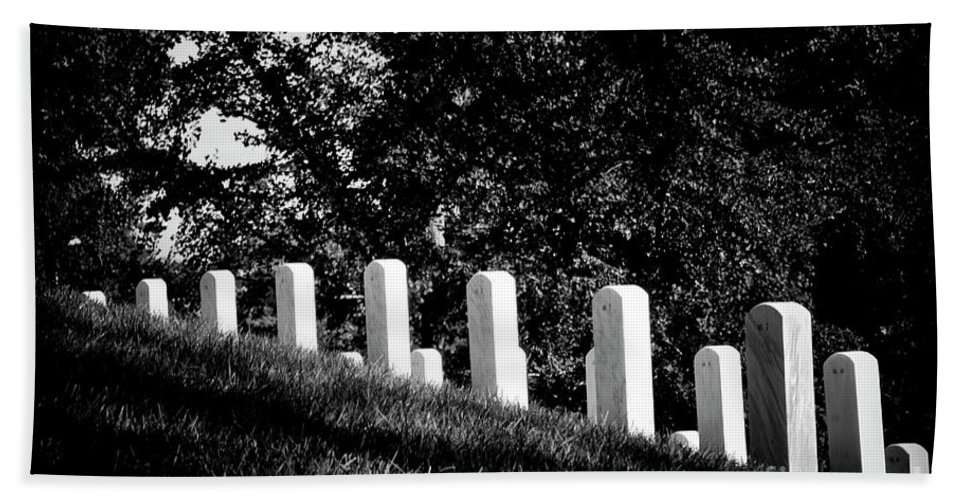 Arlington National Cemetery Hand Towel featuring the photograph Rows Of Honor by Paul W Faust - Impressions of Light