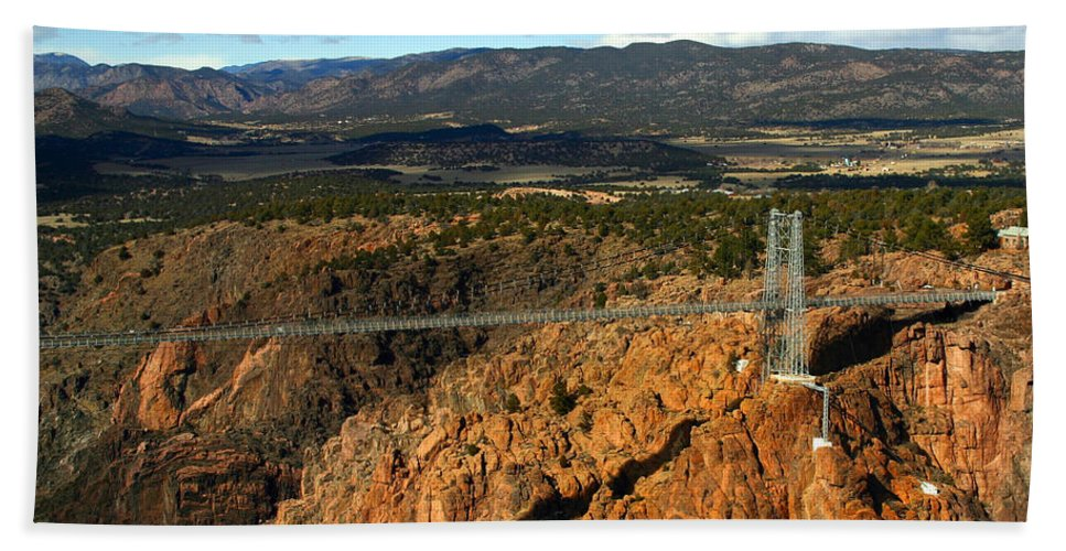 Royal Gorge Hand Towel featuring the photograph Royal Gorge by Anthony Jones