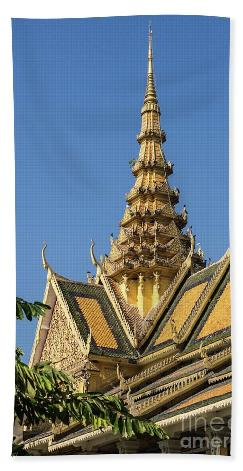 Cambodia Hand Towel featuring the photograph Royal Palace 05 by Rick Piper Photography