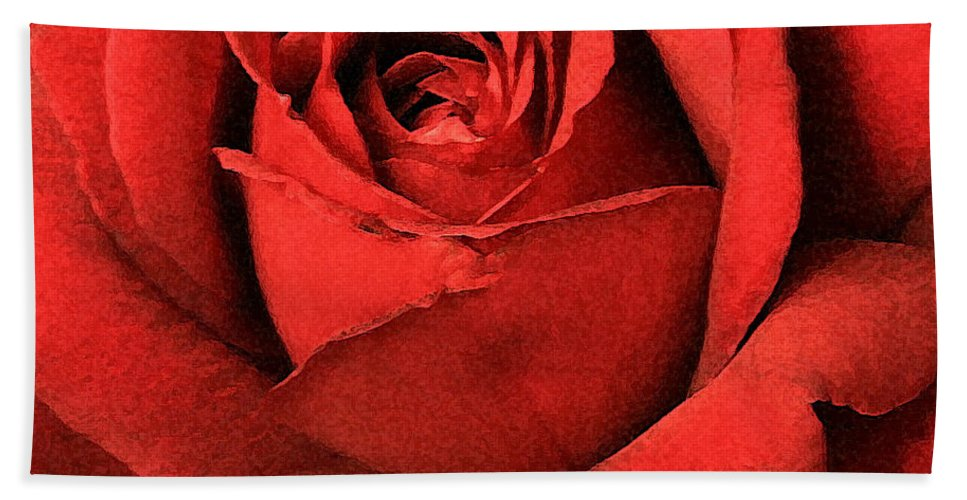 Rose Hand Towel featuring the photograph Ruby Rose by Marna Edwards Flavell