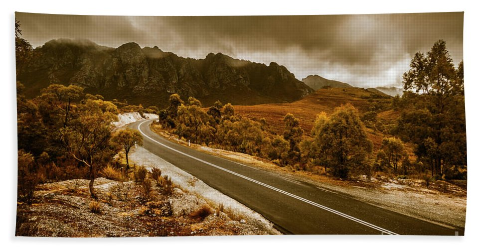 Tasmania Hand Towel featuring the photograph Rugged Rural Retreats by Jorgo Photography - Wall Art Gallery