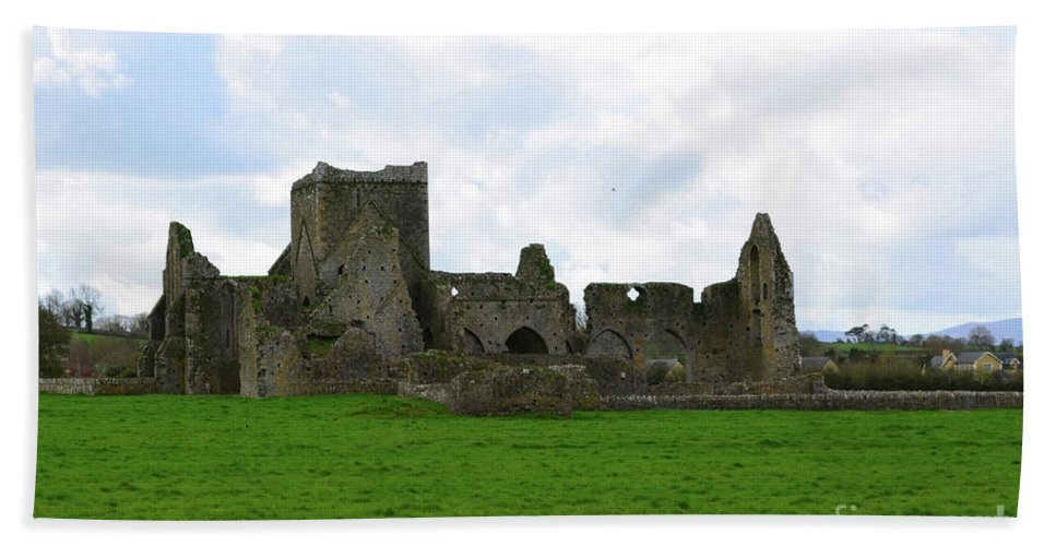 Hore Abbey Hand Towel featuring the photograph Ruins Of Stone Hore Abbey by DejaVu Designs