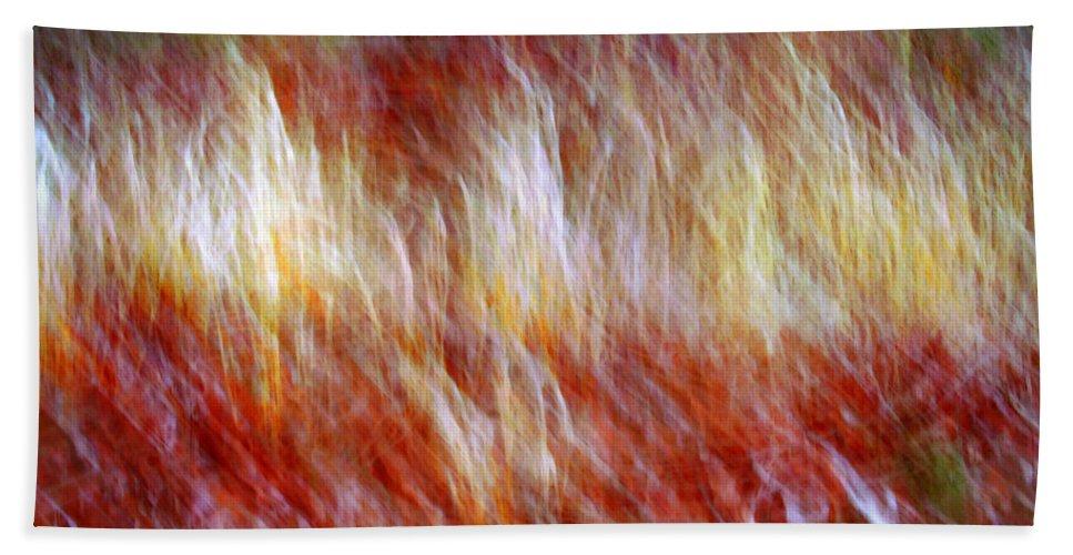 Abstract Art Hand Towel featuring the digital art Run Like Hell by Linda Sannuti
