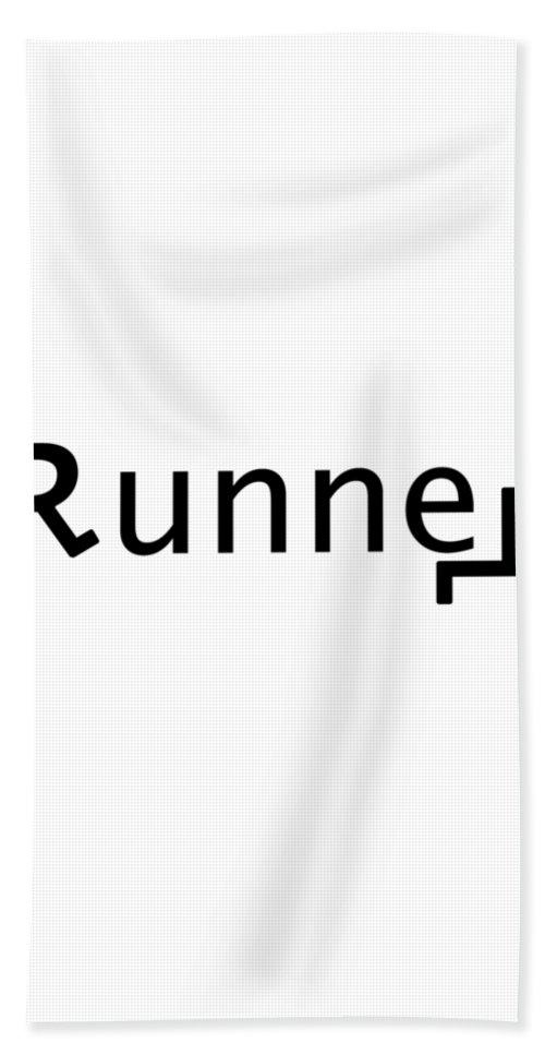 Logos Hand Towel featuring the digital art Runner by Bill Owen