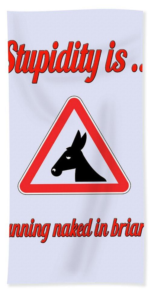 Funny Bath Sheet featuring the digital art Running Bigstock Donkey 171252860 by Mitchell Watrous