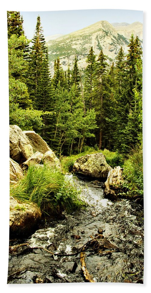 Colorado Bath Towel featuring the photograph Running River by Marilyn Hunt