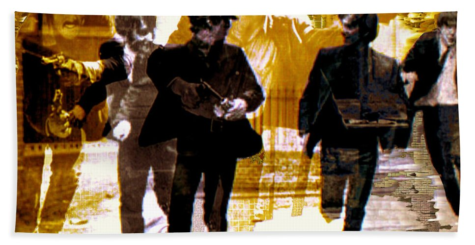 Beatles Hand Towel featuring the photograph Running Under the Gun by Seth Weaver