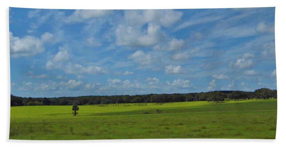 Blue Sky Hand Towel featuring the photograph Rural Beauty by D Hackett