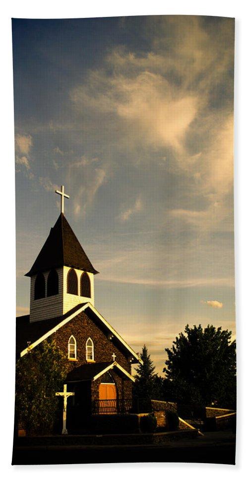 Rural Church Bath Sheet featuring the photograph Rural Church by Scott Sawyer