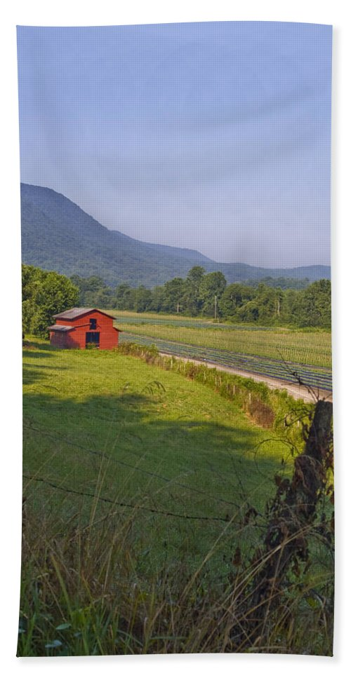 Rural Hand Towel featuring the photograph Rural Nc Needs Preservation. by Robert Ponzoni