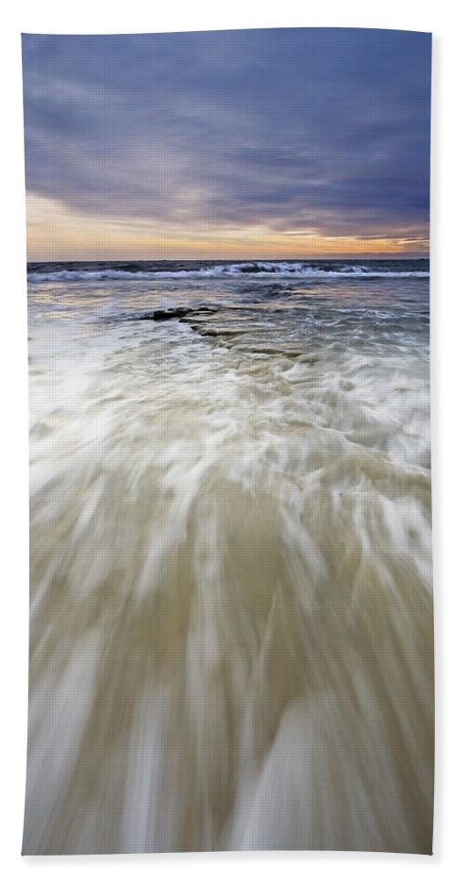 Sunset Hand Towel featuring the photograph Rush by Mike Dawson
