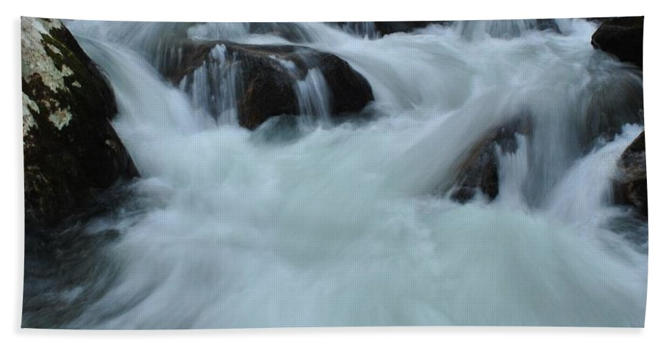 Water Bath Sheet featuring the photograph Rushing Waters by Eric Liller