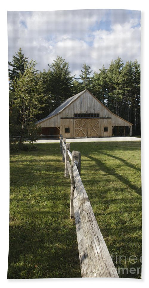 Barn Bath Sheet featuring the photograph Russell-colbath Historic Homestead - White Mountains Nh by Erin Paul Donovan