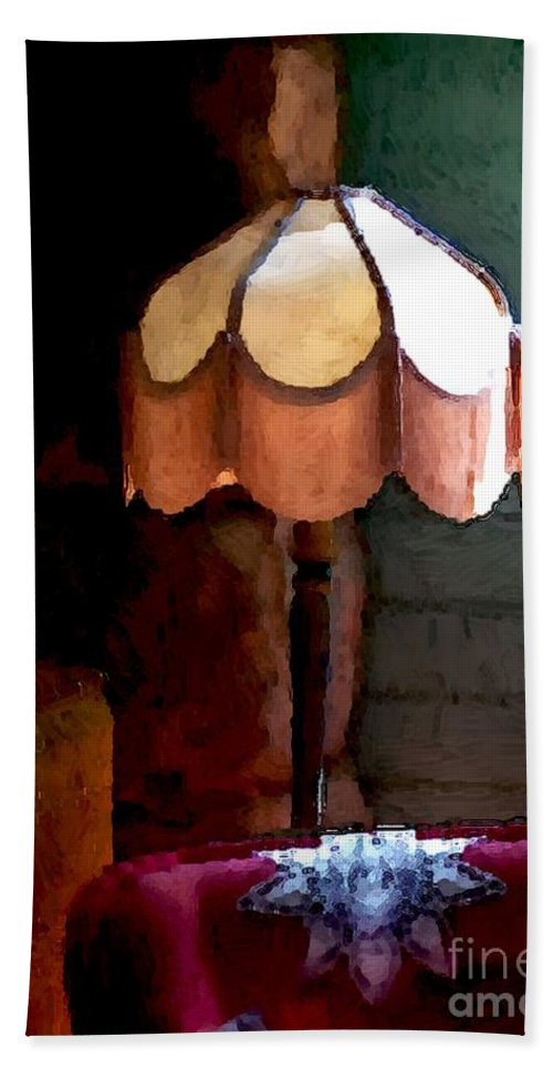Antiques Hand Towel featuring the painting Rustic Elegance by RC DeWinter
