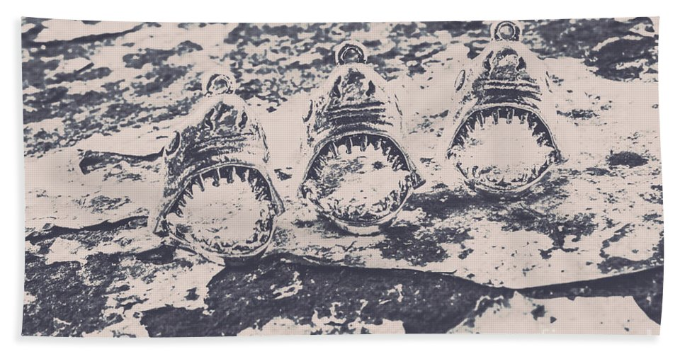 Black And White Bath Towel featuring the photograph Rustic Nautical Artwork by Jorgo Photography - Wall Art Gallery
