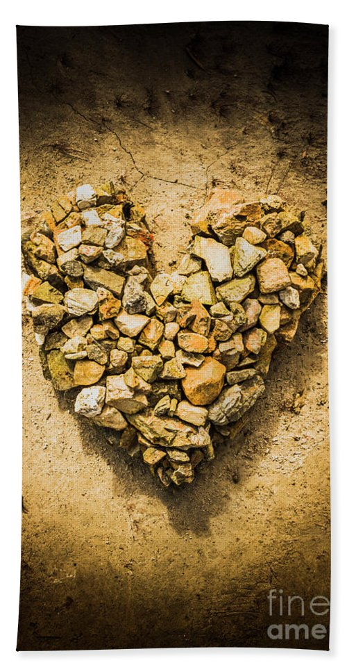 Love Bath Towel featuring the photograph Rustic Rock Romance by Jorgo Photography - Wall Art Gallery