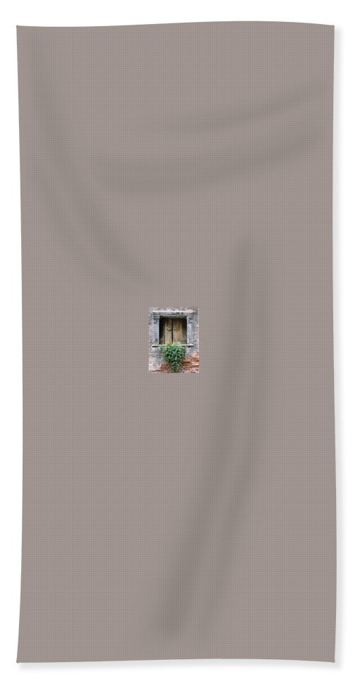 Venice Bath Sheet featuring the photograph Rustic Wooden Window Shutters by Donna Corless