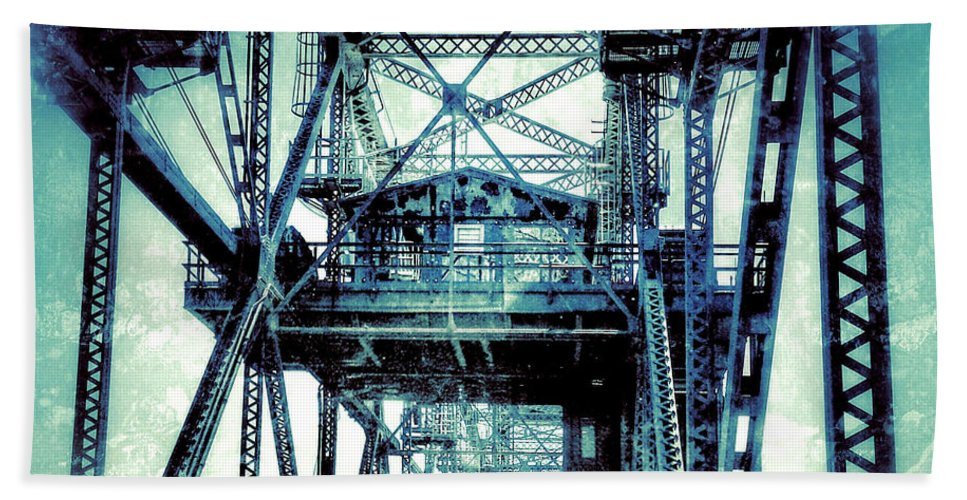 Bridge Hand Towel featuring the photograph Rusty Bridge by Lisa Pfeiffer