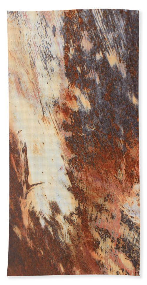 Rust Bath Sheet featuring the photograph Rusty Drum #1 by Wade Milne