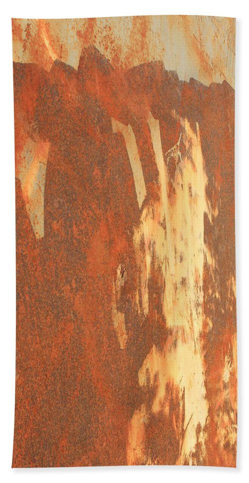 Rust Bath Sheet featuring the photograph Rusty Drum #2 by Wade Milne