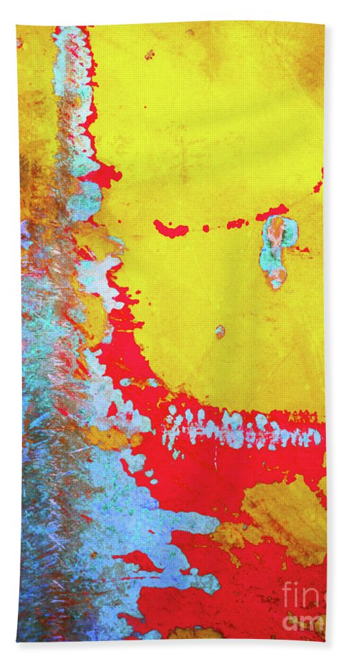 Abstract Hand Towel featuring the photograph Rusty Expressions by Tara Turner