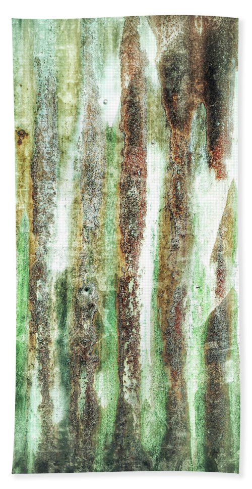 Abstract Bath Towel featuring the photograph Rusty Metal Background by Tom Gowanlock