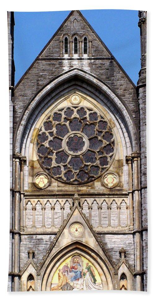 Ireland Bath Towel featuring the photograph Sacred Heart Church Detail Roscommon Ireland by Teresa Mucha