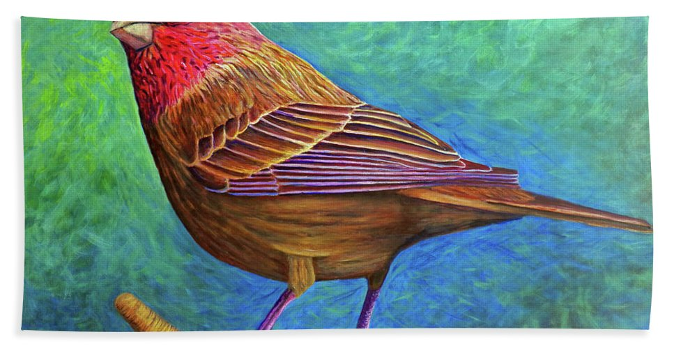 Bird Bath Sheet featuring the painting Sacred Space by Brian Commerford