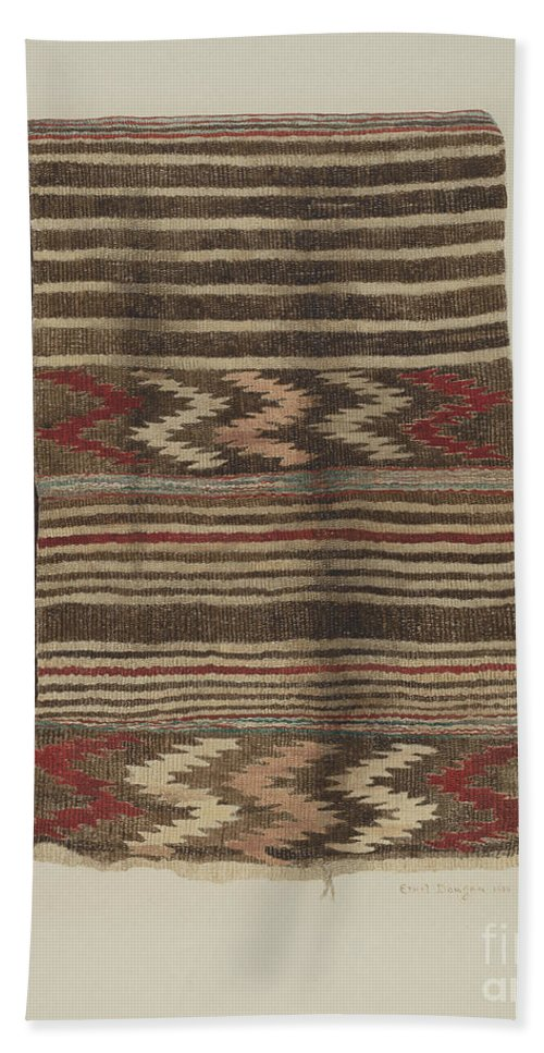 Hand Towel featuring the drawing Saddle Blanket by Ethel Dougan