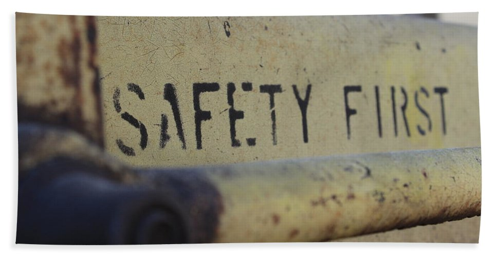 Safety Bath Sheet featuring the photograph Safety First by Wade Milne