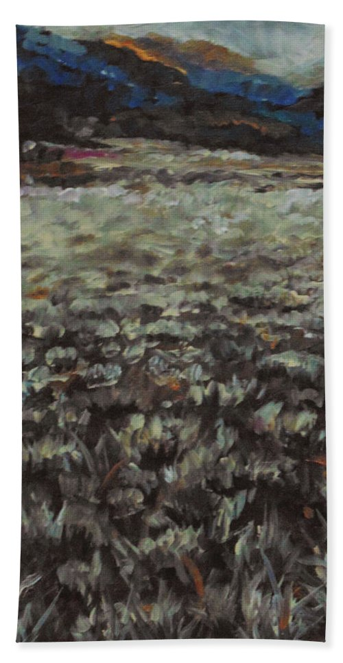 Landscape Bath Towel featuring the painting Sage Song by Susan Moore