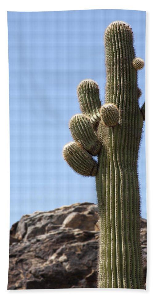 Saguaro Bath Sheet featuring the photograph Saguaro 1 by Kelley King
