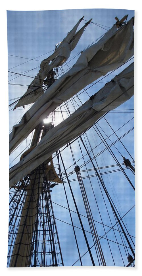 Bristol Ri Bath Sheet featuring the photograph Sail Bristol by Diane Berard