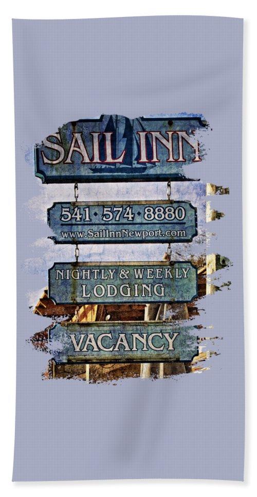 Sail Inn Bath Sheet featuring the photograph Sail Inn by Thom Zehrfeld
