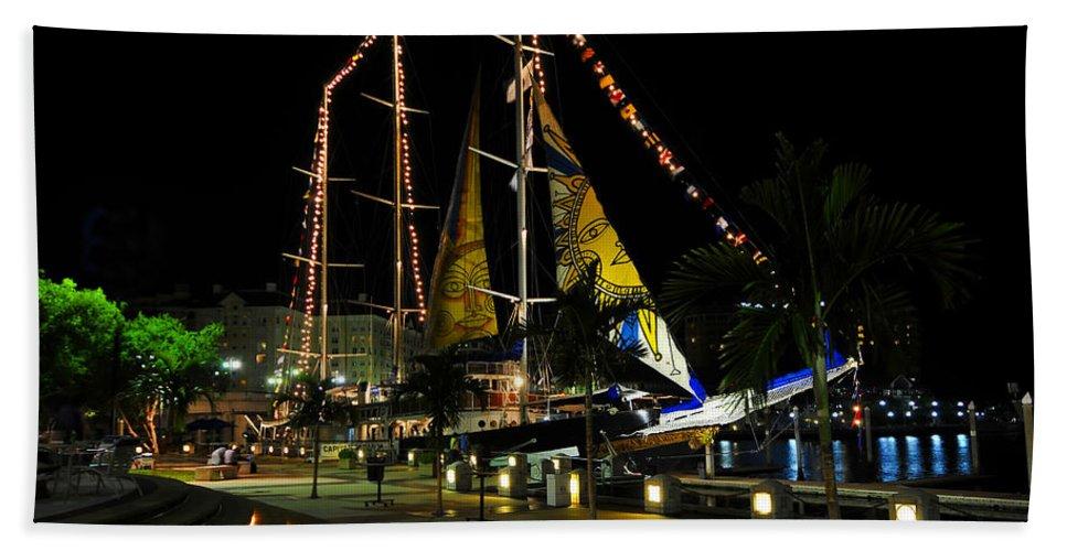 Sail Tampa Bay 2010 Hand Towel featuring the photograph Sail Tampa Bay 2010 by David Lee Thompson