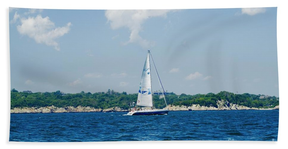 Bath Sheet featuring the photograph Sail1 by Jasmin Hrnjic
