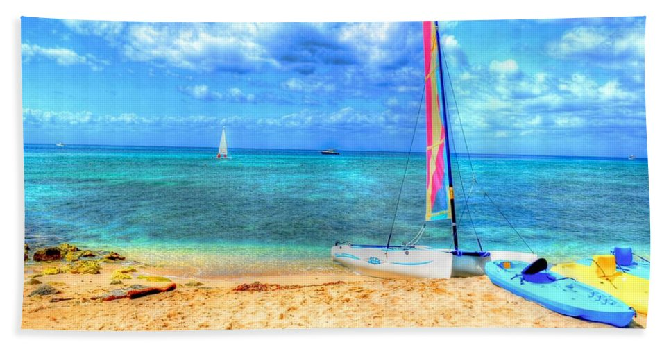 Ocean Hand Towel featuring the photograph Sailaway by Debbi Granruth