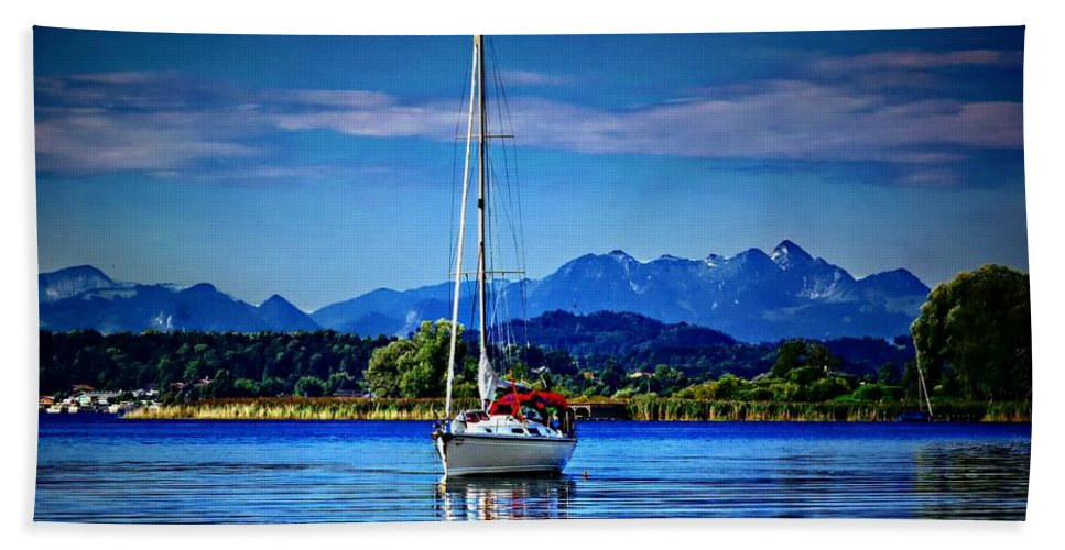 Sailboat Bath Sheet featuring the photograph Sailboat by Dawn Van Doorn