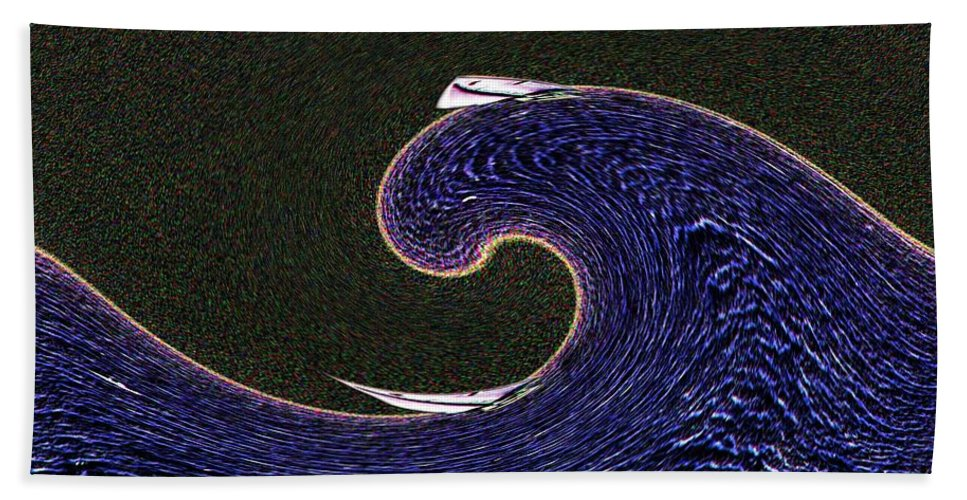 Sail Hand Towel featuring the digital art Sailin The Wave by Tim Allen