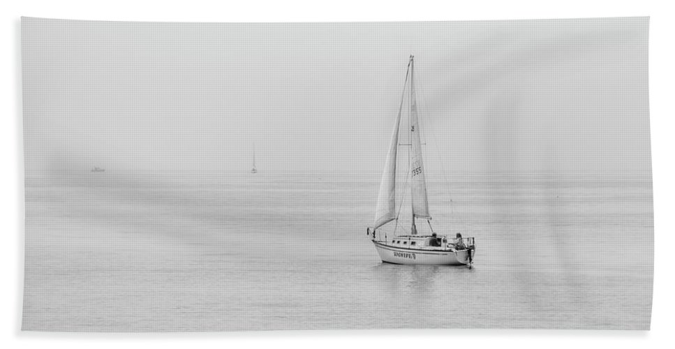 Sailing Bath Sheet featuring the photograph Sailing 0633 by Kristina Rinell
